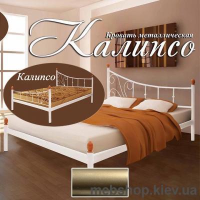 """Купить Кровать металлическая Калипсо 2 больших быльца цвет золото; палитра """"Структура"""" (Металл-Дизайн). Фото"""