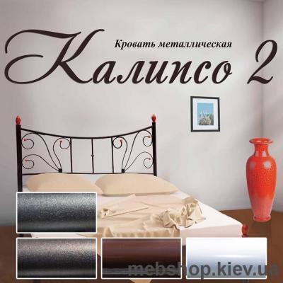 Купить Кровать металлическая Калипсо-2 цвет белый; черная медь; коричневый; черное золото (Металл-Дизайн). Фото
