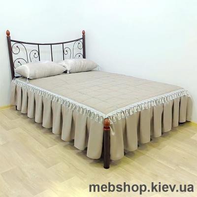 Кровать металлическая Калипсо-2 цвет белый; черная медь; коричневый; черное золото (Металл-Дизайн)