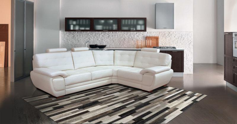 угловой кожаный диван фото