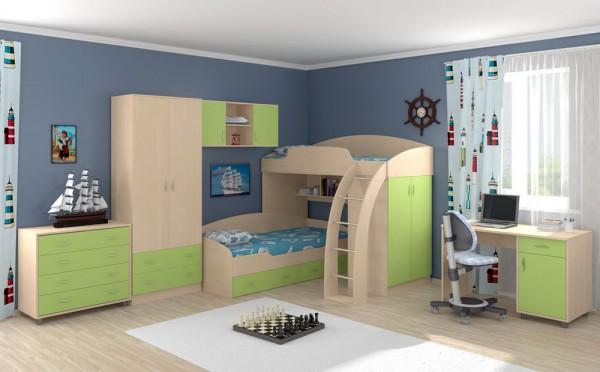 кровать к детскую комнату - фото